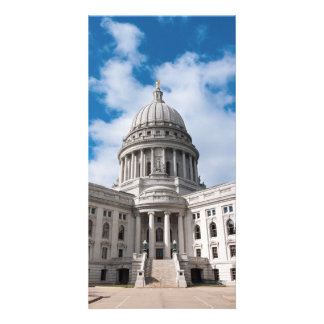 Wisconsin State Capitol Building and Entrance Photo Card Template