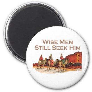 Wise Men Still Seek Him, Christmas 6 Cm Round Magnet