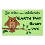 Wise Owl - Earth Day - Customisable Poster