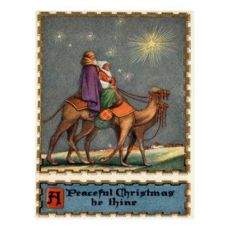 Wisemen Following Star To Jesus Postcard