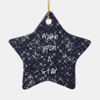 Wish Upon A Star Ceramic Star Decoration