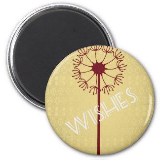 Wishes Dandelion 6 Cm Round Magnet