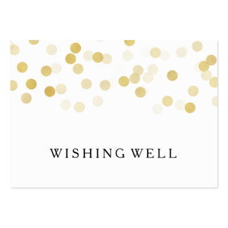 Wishing Well Gold Foil Glitter Lights Pack Of Chubby Business Cards