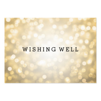 Wishing Well Gold Glitter Lights Pack Of Chubby Business Cards
