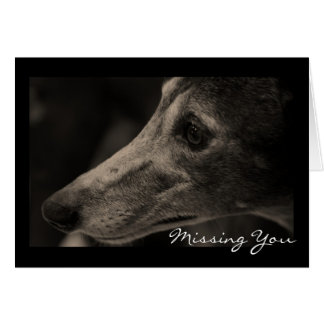 Wistful Greyhound Love Customizable Greeting Card