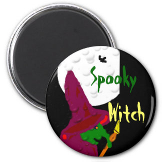 Witch of the night 6 cm round magnet