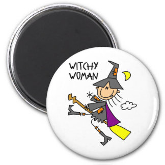 Witchy Woman Halloween Witch Magnet