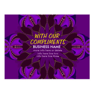 With Compliments Meeting Hearts Art Postcard