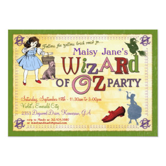 Wizard of Oz Party Invitation