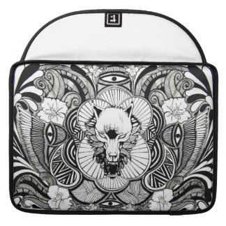 Wolf Tattoo Design MacBook Pro Sleeves