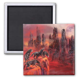 Wolves of Future Past Square Magnet