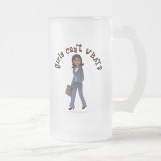 Woman CEO in Business Suit Frosted Glass Mug