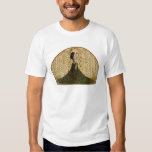 Woman in a Peacock Skirt Tee Shirt