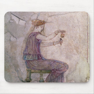 Woman Pouring Perfume into a Phial Mouse Pad