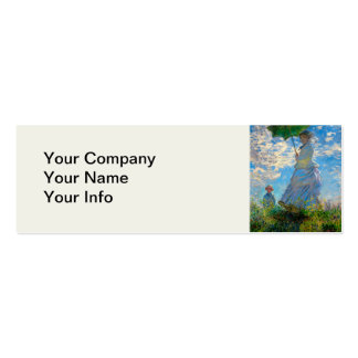 Woman with a Parasol Claude Monet Impressionist Pack Of Skinny Business Cards