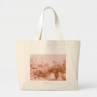 Woman Wood Gatherer Jumbo Tote Bag