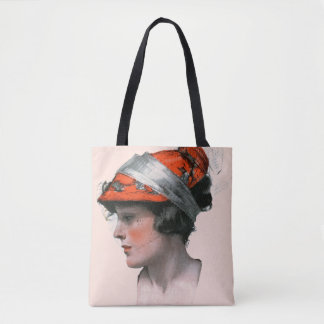 Woman's Profile Tote Bag