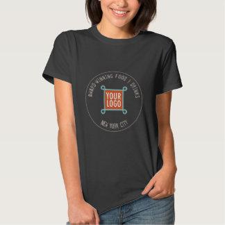 Women Company Logo T-Shirt Restaurant Bar Cafe