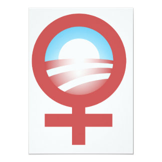 Women for Barack Obama 2012 Logo 13 Cm X 18 Cm Invitation Card