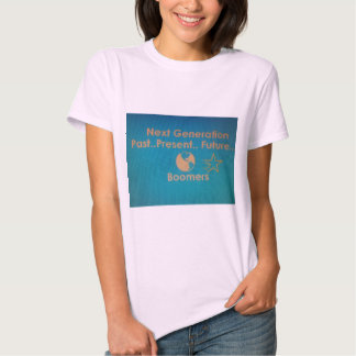 Women's Pale Pink T-Shirt with Green & Gold Logo