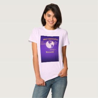 Women's Pale Pink T-Shirt with Purple Logo