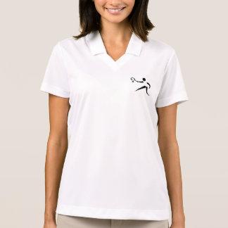 Women's Polo Shirt with TENNIS Insignia
