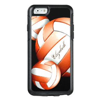 Women's Volleyball orange and white on black OtterBox iPhone 6/6s Case