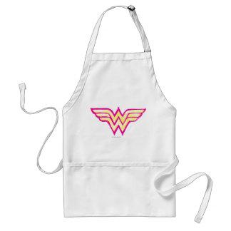 Wonder Woman Colorful Pink and Yellow Logo Standard Apron