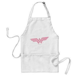 Wonder Woman Colorful Pink Floral Logo Standard Apron