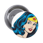 Wonder Woman Face 6 Cm Round Badge