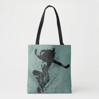 Wonder Woman Landing Foliage Graphic Tote Bag