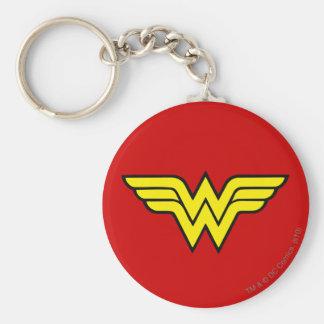 Wonder Woman Logo Basic Round Button Key Ring
