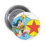 Wonder Woman Red Star 6 Cm Round Badge