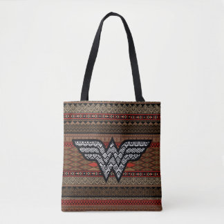 Wonder Woman Tribal Pattern Tote Bag