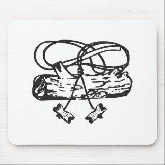 Wood Badge Axe-n-Log Mouse Pad