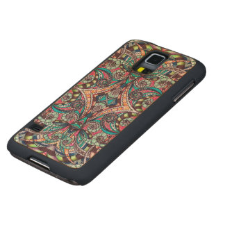 Wood Case Samsung G S5 Drawing Floral