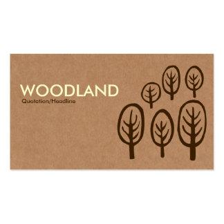 Woodland - Cream + Dark Brown on Cardboard Box Tex Pack Of Standard Business Cards