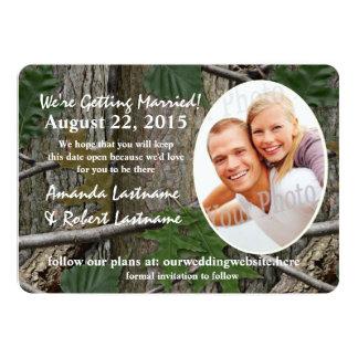 Woodland Nature Calendar Photo Save the Date 13 Cm X 18 Cm Invitation Card