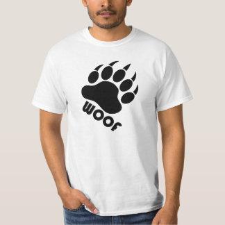 Woof Bear Pride Claw (Black) Tshirts