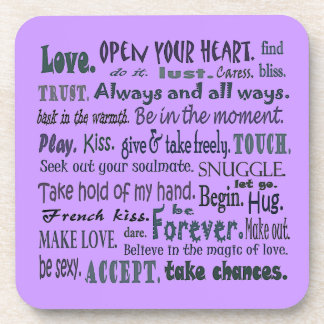 words of love coasters