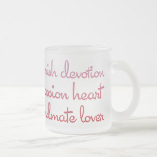 Words of Love Valentine's Day Frosted Glass Mug