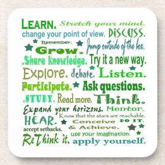 words of wisdom coasters