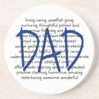 Words to Describe Dad Beverage Coaster