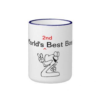 World's 2nd Best Boss Ringer Mug