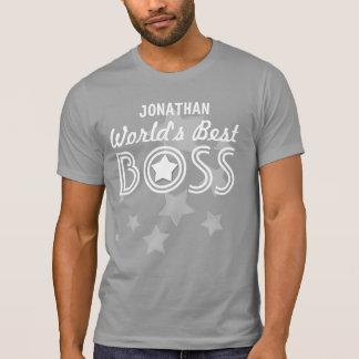 World's Best BOSS with Stars and Custom Name V01C1 Tee Shirt