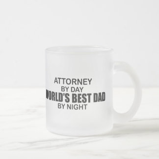 World's Best Dad by Night - Attorney Frosted Glass Mug