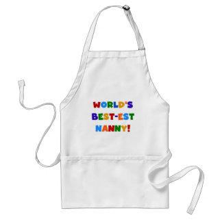 World's Best-est Nanny Bright Colors Gifts Standard Apron