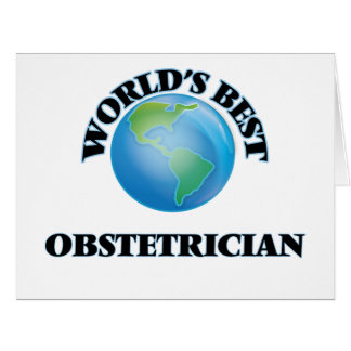 World's Best Obstetrician Big Greeting Card