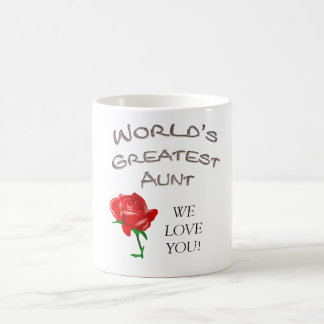 World's Greatest Aunt Basic White Mug
