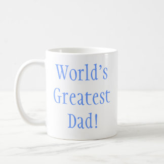 World's Greatest Dad! Basic White Mug